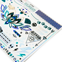 Iamu Collective Tigerlily Temporary Tattoos Blue/Silver One