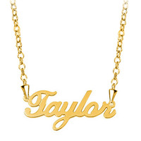 Name Necklace 18 K Gold Plated 925 Sterling Silver Custom Made Name Necklace, Custom Jewelry, 18K Gold Plated | Pugster.com