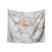 "KESS Original ""Rose Gold Flake"" White Pink Wall Tapestry"