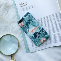 Flamingo flower Case Coque for iPhone 6s 6 Plus Blossom Case for iPhone 7 7plus Self-reserved Style -0317