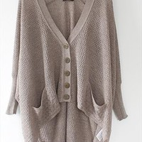 A 072902 Lazy loose bat hollow sweater from cassie2013