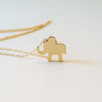 Gold Lucky Elephant Necklace, Eleph.. on Luulla
