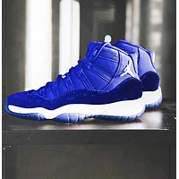 Air Jordan 11 Tide brand men's and women's sports cushioning basketball shoes blue