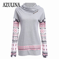 Leisure Long Sleeve Patchwork Pullovers Casual Grey Hoodie Dress Women Fashion Sweatershirts Tracksuit