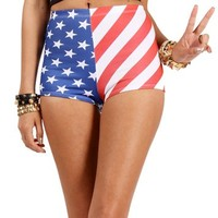 Red/White/Blue Stars And Stripes Shorts