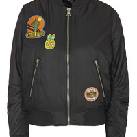 Badged MA1 Bomber Jacket - New In This Week - New In