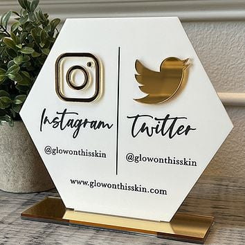 Social Media Business Sign - Double Icon