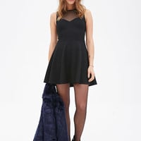 Illusion Fit & Flare Dress