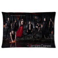 The Vampire Diaries TV Series Two Sides  Rectangle Pillow Case 16x24 Inch
