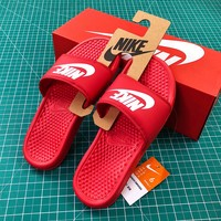 Nike Benassi Duo Ultra Slid Red Sandals - Best Online Sale