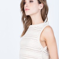 Perforated Knit Tank
