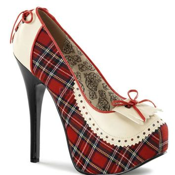 Bordello Penny Loafer Platforms Corset Lacing