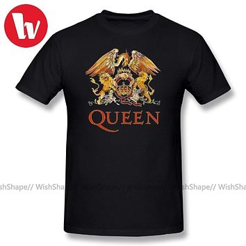 Queen Band Rock T Shirt LOGO Funny T Shirt Men Short Sleeve Cotton Tee Shirt Casual Summer Men's T Shirts Oversized Tee Shirt|T-Shirts
