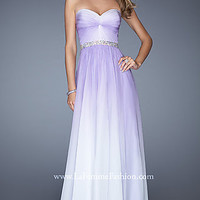 Strapless Ruched Prom Gown by La Femme