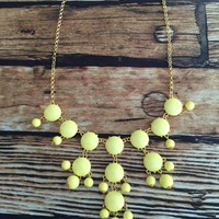 Bubble Necklace - Yellow