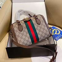 Gucci small cylinder pillow bag trendy all-match single shoulder bag