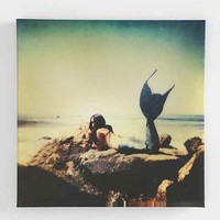 Claire Oring Mermaid Stretched Canvas Print- Multi One