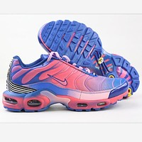 NIKE AIR VAPORMAX PLUS White Shoes Sports Shoes Blue