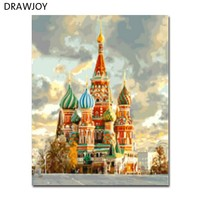 DRAWJOY Framed Landscape Picture Home Decor DIY Oil Painting By Numbers Wall Art Landscape GX21608 40x50cm