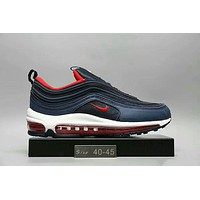 NIKE AIR MAX 97 Fashion Running Sneakers Sport Shoes Blue red I-HAOXIE-ADXJ