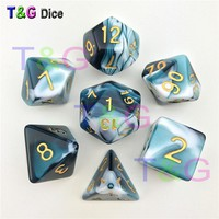 7PCS TRPG Dice for Dungeons & Dragons D4-D20 Multi Sided Game Board Game Accessories
