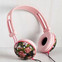 Pastel Swoons and Tunes Headphones in Painted Roses by ModCloth