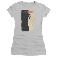 SCARFACE/VINTAGE POSTER - S/S JUNIOR SHEER - SILVER -