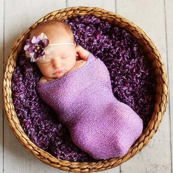 40*150cm newborn photography props baby wrap knit blanket new born stretch padding nubble wrap infant photo shooting accessories