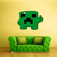 Full Color Wall Decal Vinyl Sticker Decor Art Bedroom Design Mural Like Paintings Minecraft Creeper Video Game (col515)