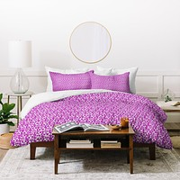 Aimee St Hill Skulls Purple Duvet Cover