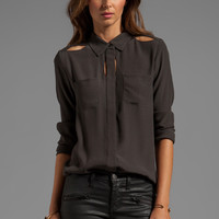 Funktional Fundamental Peek Through Shirt in Charcoal from REVOLVEclothing.com
