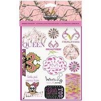 Realtree Outfitters Sheet of APC Pink Binder Stickers