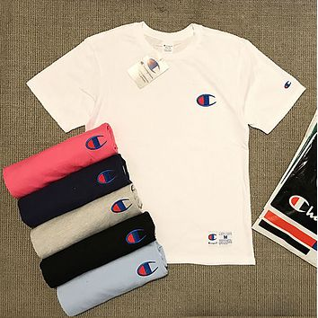 Champion short-sleeved T-shirt original high-quality large embroidery short-sleeved