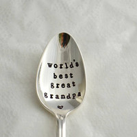 world's best great grandpa, teaspoon-silver plated, fathers day gift idea, gift for great grandpa.