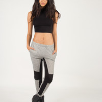 Quilted Knee Jogger Pants