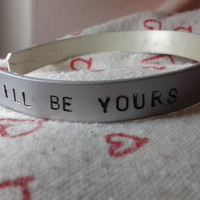 I'll be yours until the stars fall from the sky - Arctic Monkeys - Handstamped Bracalet in Alluminium Alex Turner