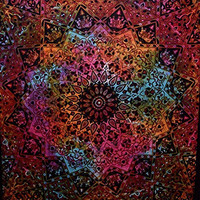 "Tie Dye Bohemian Tapestry Elephant Star Mandala Tapestry Tapestry Wall Hanging Boho Tapestry Hippie Hippy Tapestry Beach Coverlet Curtain,92"" x 86"""