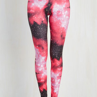 90s Long Skinny Fresh Take Leggings in Pink Universe