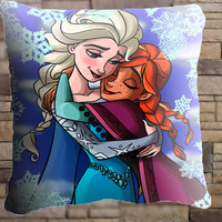 Frozen-Anna-and-Elsa pillow cover , pillow case ,decorative pillow, 18x18 inch ,20x30 inch , one side / two side