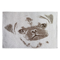 Belle13 The Intellectual Pug Woven Rug