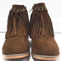 Cute Fringe Little Girl Booties