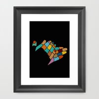 clap your hands Framed Art Print by SpinL