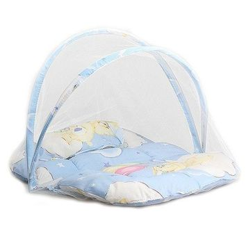 New Solid Baby Comfortable Mosquito Net Infant Safe Protect Outdoor Home Portable Folding Travel Bed Crib Canopy Insect Tent