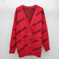 Balenciaga Top Sweater Cardigan Knitwear Coat