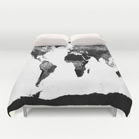 World Map Duvet Cover by WhimsyRomance&Fun