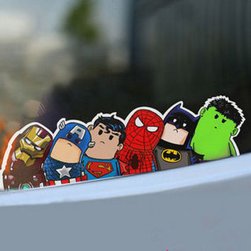 Superhero, Avengers Car Stickers.
