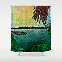 :: Lake View :: Shower Curtain by GaleStorm Artworks