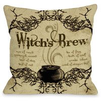 """Witch's Brew"" Indoor Throw Pillow by Kate Ward Thacker, 16""x16"""