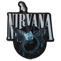 Nirvana Men's Guitar Embroidered Patch Black
