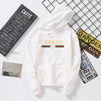 GUCCI  Women Fashion Hooded Top Sweater Pullover Sweatshirt